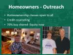 homeowners outreach