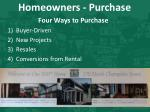 homeowners purchase