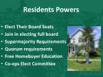 residents powers