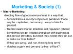 marketing society 1