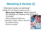 marketing society 2