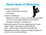 some ideas of marketing