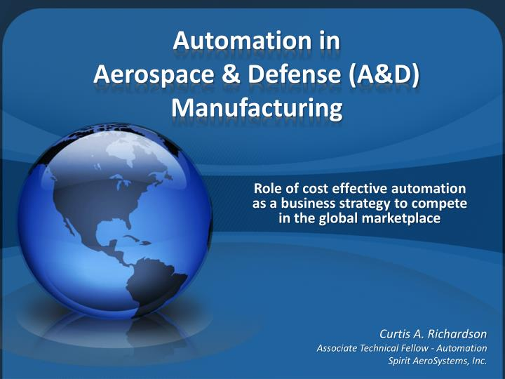 automation in aerospace defense a d manufacturing n.
