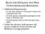 rules for husband and wife unincorporated businesses1