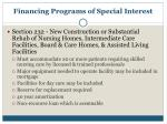 financing programs of special interest6