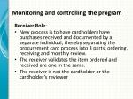 monitoring and controlling the program