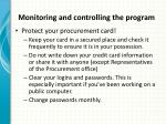 monitoring and controlling the program2