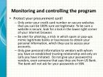 monitoring and controlling the program3