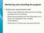 monitoring and controlling the program4
