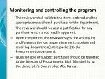 monitoring and controlling the program8