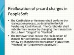 reallocation of p card charges in peoplesoft