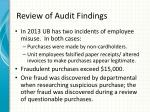 review of audit findings2