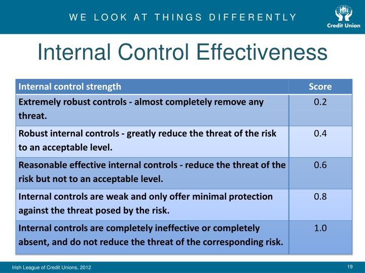 Internal Control Effectiveness
