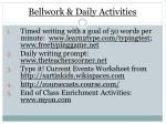 bellwork daily activities