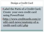 design a credit card