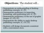 objectives the student will1