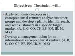 objectives the student will3