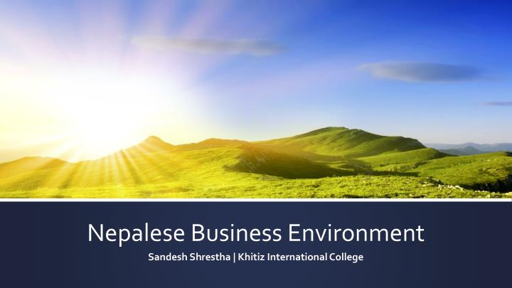 nepalese business environment n.