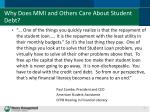 why does mmi and others care about student debt2