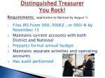 distinguished treasurer you rock