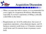 acquisition discussion2