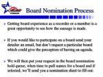 board nomination process
