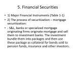5 financial securities