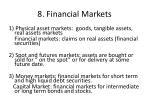 8 financial markets