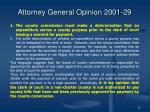 attorney general opinion 2001 29