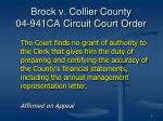 brock v collier county 04 941ca circuit court order