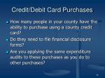 credit debit card purchases