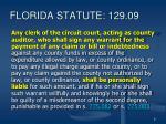 florida statute 129 09