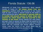 florida statute 136 06