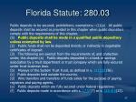 florida statute 280 03