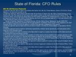 state of florida cfo rules