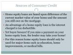 sources of consumer credit6