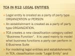 tca in r12 legal entities