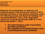 house enrolled act 1585 public law 234 adds ic 36 1 1 5 study committee