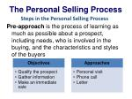 the personal selling process3
