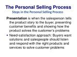 the personal selling process6