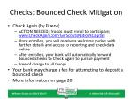checks bounced check mitigation