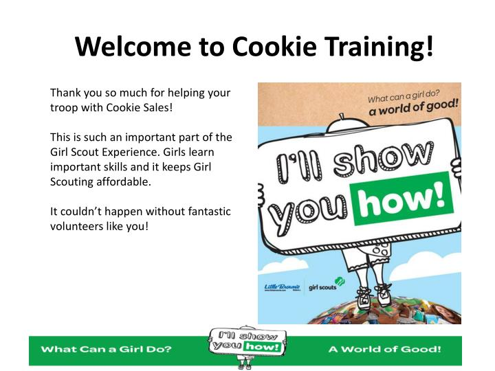 welcome to cookie training n.