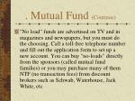 mutual fund continue3