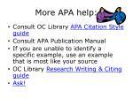 more apa help
