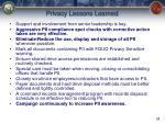 privacy lessons learned
