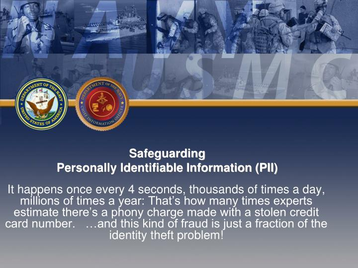 safeguarding personally identifiable information pii n.