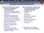 sensitive and non sensitive pii