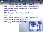 what s new with don privacy