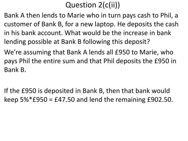 Question 2(c(ii))