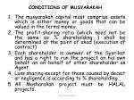 conditions of musyarakah